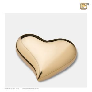 Heart Keepsake Urn Pol Gold
